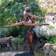 """PAS DE DEUX (MONUMENTAL)   size: 120"""" x 96"""" x 28""""    weight: 560 lbs   cast bronze"""